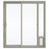 JELD-WEN V-2500 71.5-in 1-Lite Glass Vinyl Sliding Patio Door with Screen