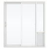 JELD-WEN V-2500 71.5-in 1-Lite Glass Vinyl Sliding Patio Door with Screen