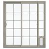 JELD-WEN V-2500 71.5-in 15-Lite Glass Vinyl Sliding Patio Door with Screen