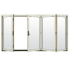 JELD-WEN W4500 124.1875-in Clear Glass French Vanilla Wood Sliding Outswing Patio Door