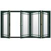 JELD-WEN W4500 124.1875-in Grid Glass Hartford Green Wood Sliding Outswing Patio Door