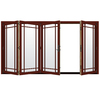 JELD-WEN W4500 124.1875-in Grid Glass Mesa Red Wood Sliding Outswing Patio Door