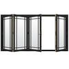 JELD-WEN W4500 124.1875-in Grid Glass Chestnut Bronze Wood Sliding Outswing Patio Door