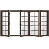 JELD-WEN W4500 124.1875-in 10-Lite Glass Dark Chocolate Wood Sliding Outswing Patio Door