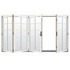 JELD-WEN W4500 124.1875-in 10-Lite Glass Brilliant White Wood Sliding Outswing Patio Door