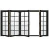 JELD-WEN W4500 124.1875-in 10-Lite Glass Chestnut Bronze Wood Sliding Outswing Patio Door