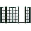 JELD-WEN W4500 124.1875-in 10-Lite Glass Hartford Green Wood Sliding Outswing Patio Door