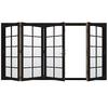 JELD-WEN W4500 124.1875-in 10-Lite Glass Black Wood Sliding Outswing Patio Door