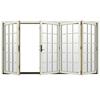 JELD-WEN W-4500 124.1875-in 15-Lite Glass French Vanilla Wood Folding Outswing Patio Door