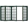JELD-WEN W4500 124.1875-in 15-Lite Glass Hartford Green Wood Sliding Outswing Patio Door