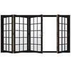 JELD-WEN W4500 124.1875-in 15-Lite Glass Black Wood Sliding Outswing Patio Door