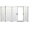 JELD-WEN W-4500 124.1875-in 15-Lite Glass Brilliant White Wood Folding Outswing Patio Door