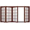 JELD-WEN W-4500 124.1875-in 15-Lite Glass Mesa Red Wood Folding Outswing Patio Door