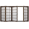 JELD-WEN W-4500 124.1875-in 15-Lite Glass Dark Chocolate Wood Folding Outswing Patio Door