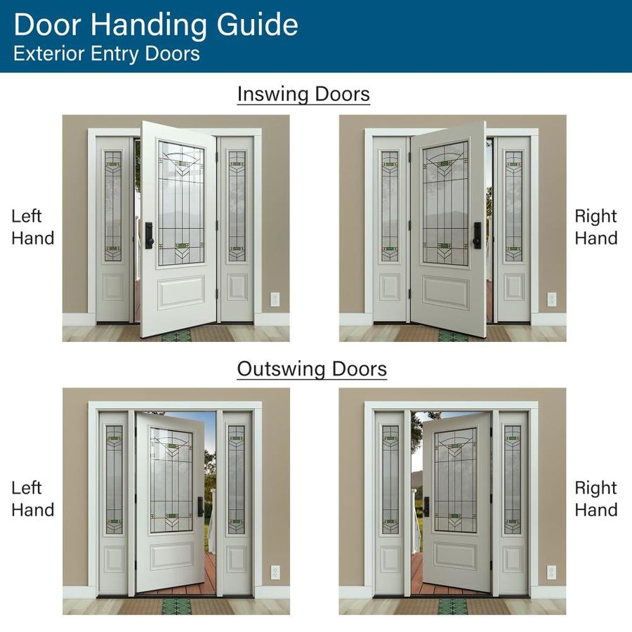 Jeld Wen 32 In X 80 In Steel Half Lite Right Hand Outswing Primed Prehung Single Front Door With Blinds In The Front Doors Department At Lowes Com We can provide you with the complete prehung door unit or just the glass door. lowe s