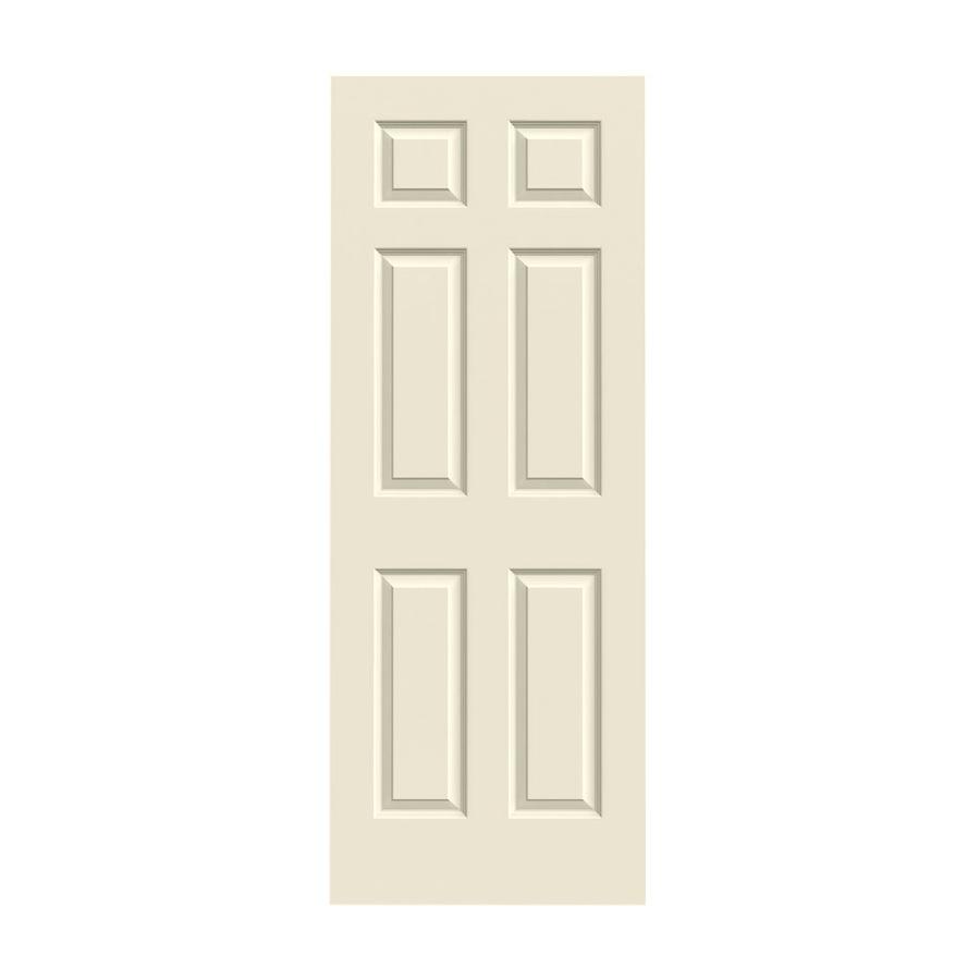Shop Reliabilt 6 Panel Hollow Core Smooth Non Bored Interior Slab Door Common 24 In X 78 In