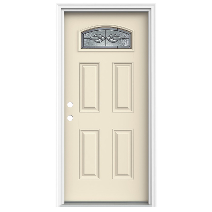 Shop reliabilt morelight decorative bisque prehung inswing for Decorative entrance doors