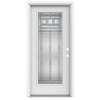 ReliaBilt Craftsman Glass 1-Panel Insulating Core Full Lite Left-Hand Inswing Arctic White Fiberglass Painted Prehung Entry Door (Common: 36-in x 80-in; Actual: 37.5-in x 81.75-in)