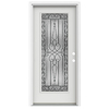 ReliaBilt Wyngate 1-Panel Insulating Core Full Lite Left-Hand Inswing Arctic White Fiberglass Painted Prehung Entry Door (Common: 36-in x 80-in; Actual: 37.5-in x 81.75-in)