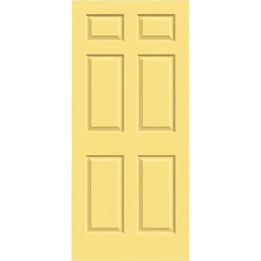 Shop reliabilt 6 panel solid core smooth non bored for Solid core exterior door with window