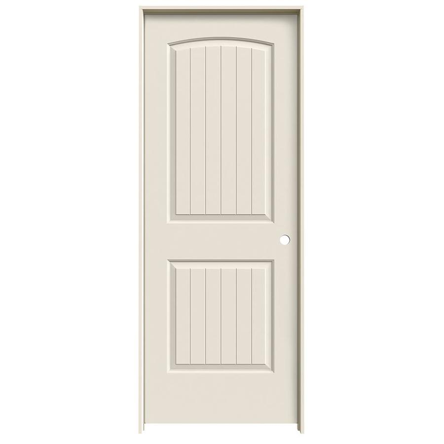 Shop reliabilt 2 panel round top plank solid core smooth for 1 panel interior door