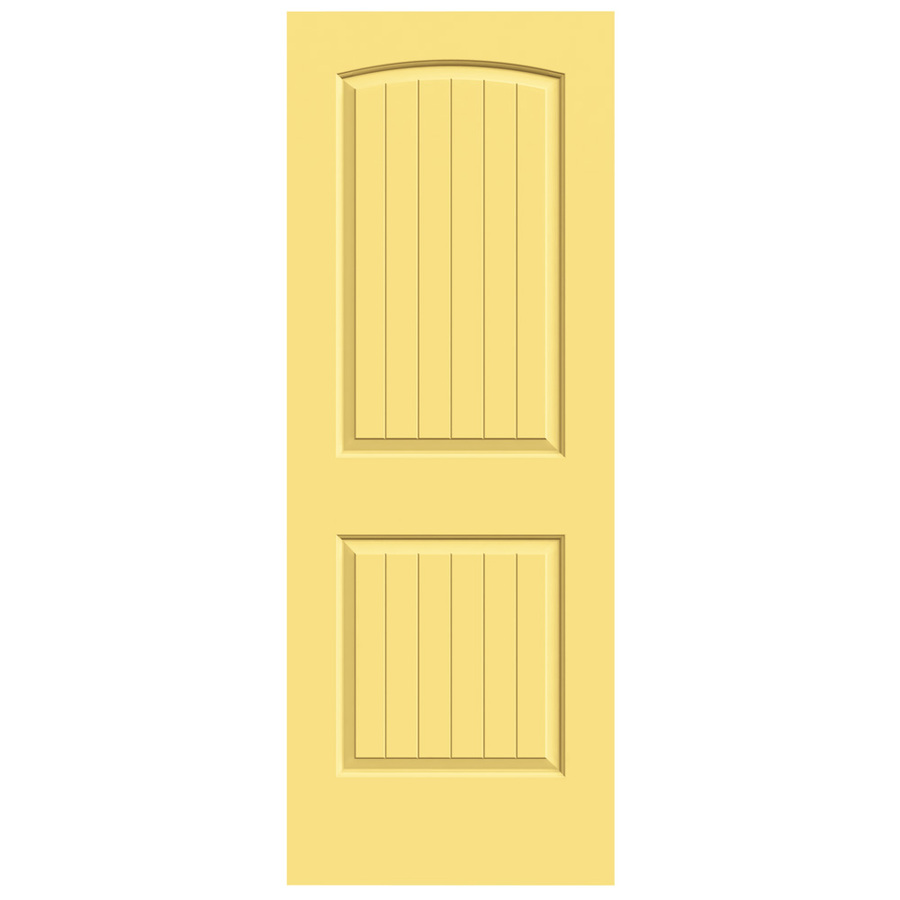 Shop reliabilt 2 panel round top plank hollow core smooth non bored interior slab door common - Hollow core interior doors lowes ...