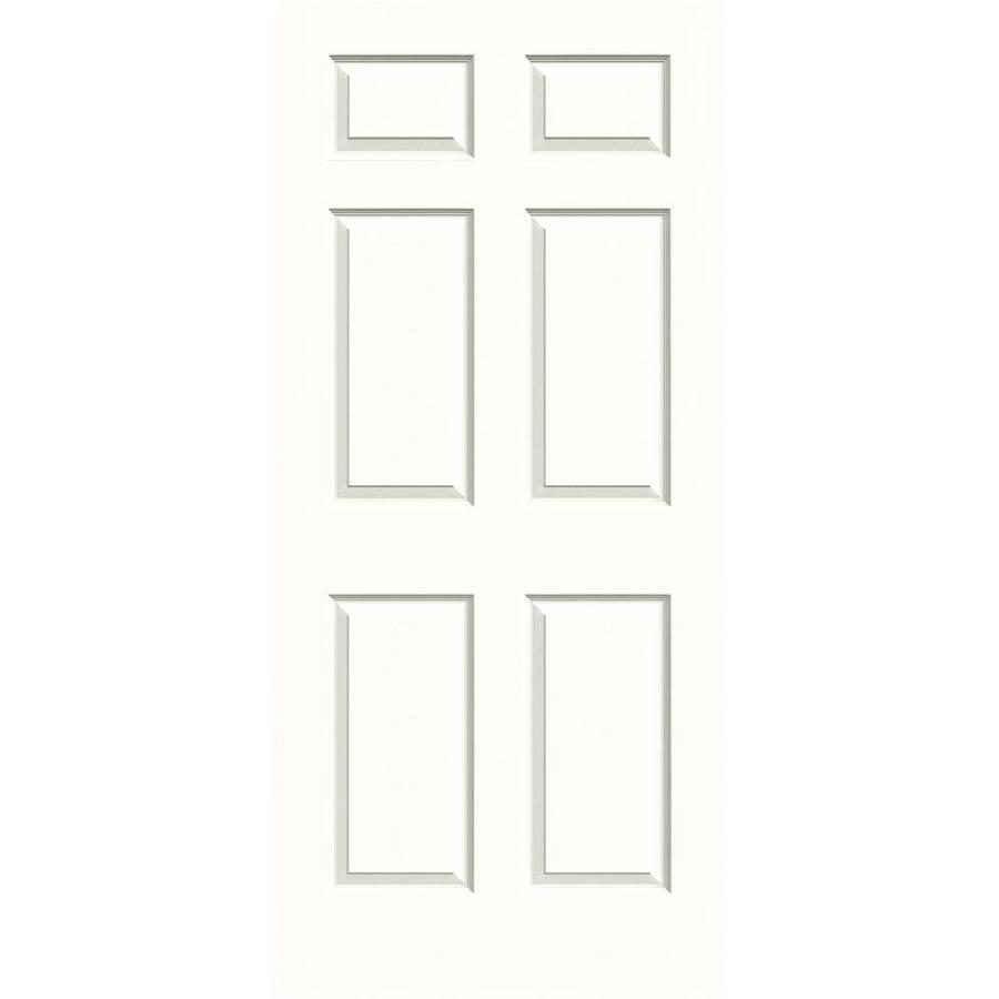 Shop Reliabilt 1 Panel Square Hollow Core Textured Non Bored Mirrored Glass Interior Slab Door
