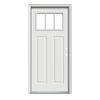 JELD-WEN Craftsman Glass Insulating Core 1-Lite Left-Hand Inswing Steel Painted Prehung Entry Door
