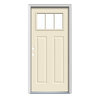 JELD-WEN 36-in x 80-in Craftsman 3-Lite Prehung Inswing Steel Entry Door