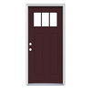 JELD-WEN Craftsman Glass Insulating Core 3-Lite Right-Hand Inswing Steel Painted Prehung Entry Door