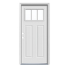 JELD-WEN 36-in x 80-in Craftsman 3-Lite Inswing Steel Entry Door