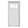 JELD-WEN Craftsman Insulating Core 3-Lite Right-Hand Inswing Primed Steel Prehung Entry Door (Common: 36-in x 80-in; Actual: 37.5-in x 81.75-in)