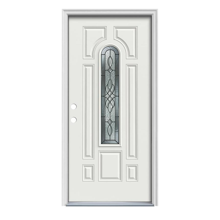 center arch lite prehung inswing steel entry door common 36