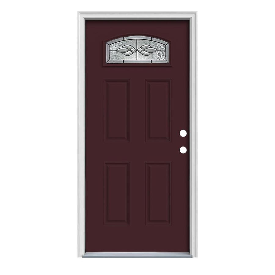Shop reliabilt craftsman morelight prehung inswing steel for Steel entry doors