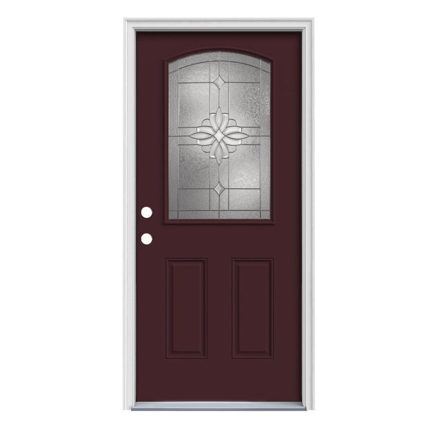 Shop reliabilt half lite prehung inswing steel entry door for Metal entry doors