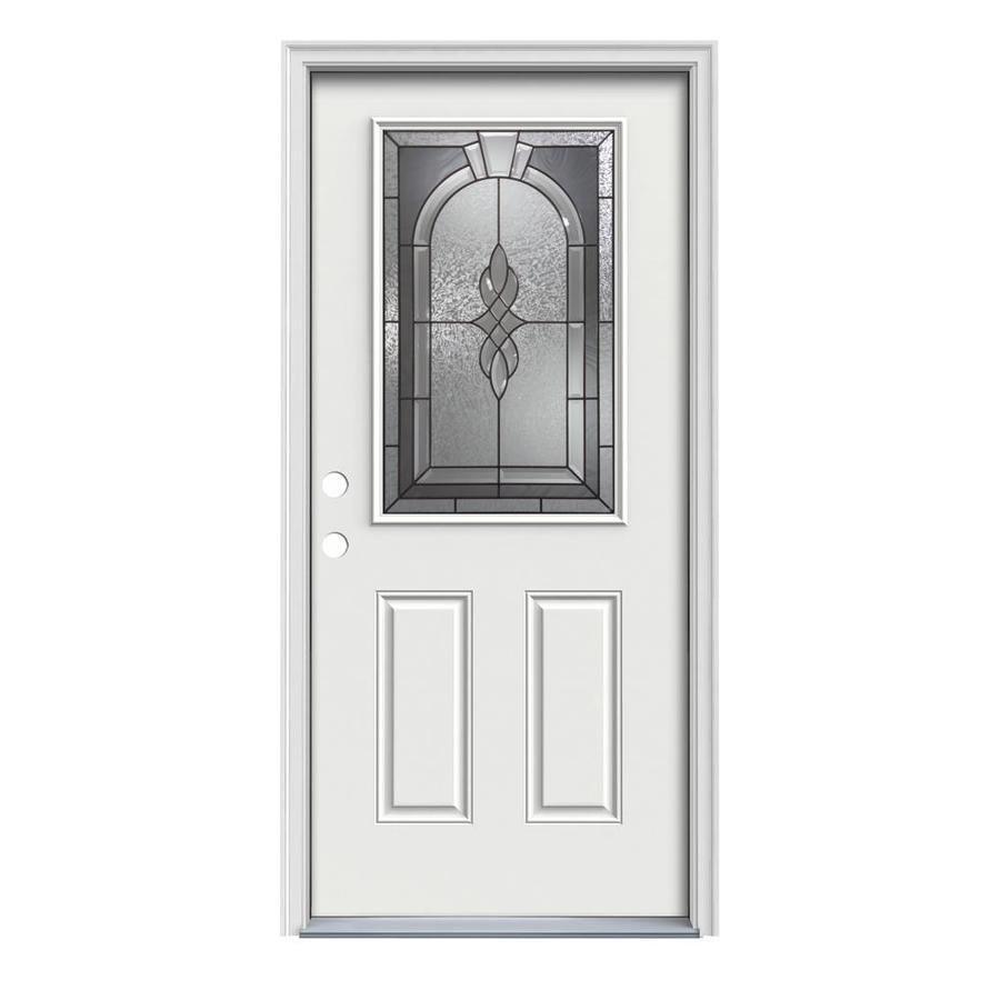 Shop reliabilt half lite prehung inswing steel entry door for Lowes steel doors