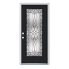 ReliaBilt Wyngate 1-Panel Insulating Core Full Lite Right-Hand Inswing Peppercorn Steel Painted Prehung Entry Door (Common: 32-in x 80-in; Actual: 33.5-in x 81.75-in)