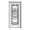 ReliaBilt Wyngate 1-Panel Insulating Core Full Lite Left-Hand Inswing Arctic White Steel Painted Prehung Entry Door (Common: 36-in x 80-in; Actual: 37.5-in x 81.75-in)