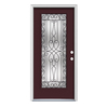 ReliaBilt Wyngate 1-Panel Insulating Core Full Lite Left-Hand Inswing Currant Steel Painted Prehung Entry Door (Common: 36-in x 80-in; Actual: 37.5-in x 81.75-in)