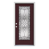 ReliaBilt Wyngate 1-Panel Insulating Core Full Lite Right-Hand Inswing Currant Steel Painted Prehung Entry Door (Common: 36-in x 80-in; Actual: 37.5-in x 81.75-in)