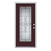ReliaBilt Calista 1-Panel Insulating Core Full Lite Left-Hand Inswing Currant Steel Painted Prehung Entry Door (Common: 36-in x 80-in; Actual: 37.5-in x 81.75-in)