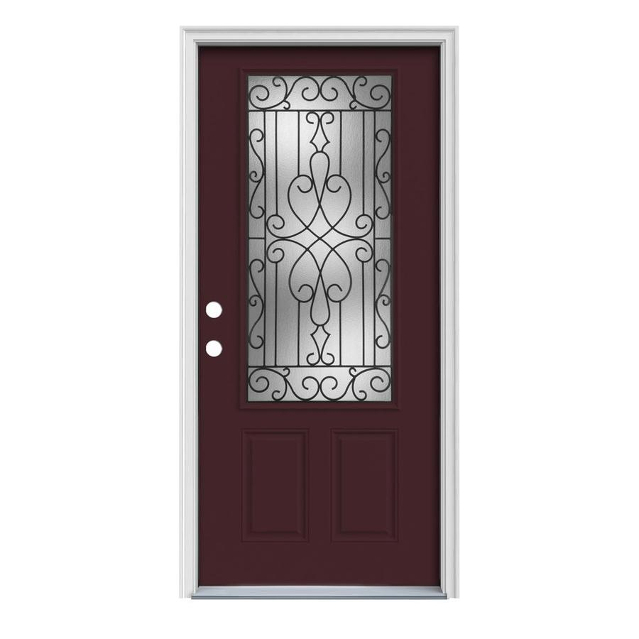 Shop reliabilt 3 4 lite prehung inswing steel entry door for Lowes exterior doors