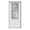 ReliaBilt Calista 1-Panel Insulating Core 3/4 Lite Right-Hand Inswing Arctic White Steel Painted Prehung Entry Door (Common: 32-in x 80-in; Actual: 33.5-in x 81.75-in)