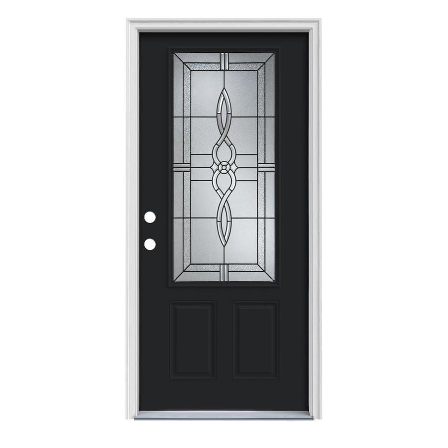 Shop reliabilt 3 4 lite prehung inswing steel entry door for Lowes steel doors