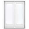 ReliaBilt 59.5-in 1-Lite Glass Fiberglass French Inswing Patio Door