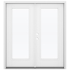 ReliaBilt 71.5-in 1-Lite Glass Fiberglass French Inswing Patio Door