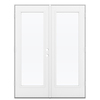 ReliaBilt 59.5-in 1-Lite Glass Fiberglass French Outswing Patio Door