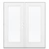 ReliaBilt 71.5-in 1-Lite Glass Fiberglass French Outswing Patio Door