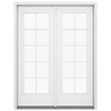 ReliaBilt 59.5-in 10-Lite Glass Fiberglass French Outswing Patio Door