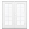 ReliaBilt 71.5-in 10-Lite Glass Fiberglass French Outswing Patio Door